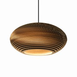 Graypants Scraplights Disc16 Pendant Natural