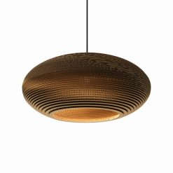 Graypants Scraplights Disc24 Pendant Natural