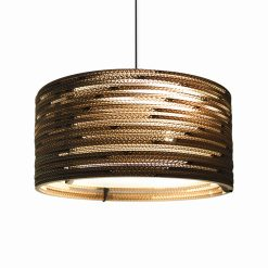 Graypants Scraplights Drum18 Pendant Natural